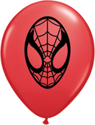 "Picture of 5"" Red Spider-Man - Qualatex Balloon (100/bag)"