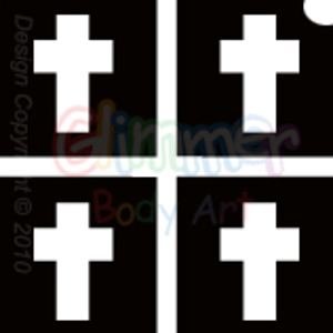 Picture of Mini Cross Stencil (4 in 1) - (5pc pack)