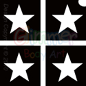 Picture of Mini Solid Star Stencil (4 In 1) - (5pc pack)