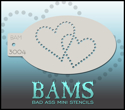 Picture of Bad Ass Mini Stencil - Lovers Hearts - 3004