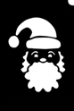 Picture of Santa Face Stencil (5pc pack)