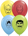 "Picture of 5"" Marvel's Avengers Faces  - Qualatex Balloon (100/bag)"