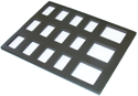 "Picture of Foam Insert for Plastic Case -15 Rectangle Slots (50gr and 1 Stroke Cakes) (9.65""x12.2"")"