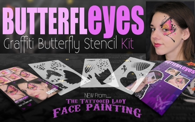 Picture of Butterfly Eyes Graffiti Stencil Kit