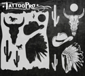 Picture of Tattoo Pro Stencil - Wild West (ATPS-141)