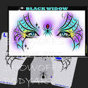 Picture of Black Widow Stencil Eyes - 04SE