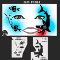Picture of Go Fish Stencil Eyes - 20SE - (Child Size 4-7 YRS OLD)