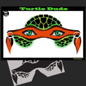 Picture of Turtle Dude Stencil Eyes - 74SE - (8YRS and UP)