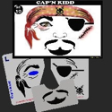 Picture of Cap'n Kidd Stencil Eyes - 010SE - (Child Size 4-7 YRS OLD)