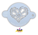 Picture of TAP 074 Face Painting Stencil - Flower Heart