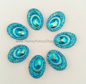 Picture of Big Peacock Gems - Blue - 13x18mm  (7 pc.) (SG-BP2)