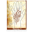 Picture of Henna Stencil 1 - Paisley Flower Strip - SOBA