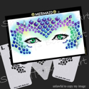 Picture of Mermaid Stencil Eyes - SE - (8 YRS and UP)
