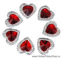 Picture of Double Heart Gems - Red - 16mm (7 pc.) (SG-DHR)