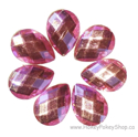 Picture of Teardrop Gems - Pink - 13x18mm (7 pc.) (SG-T5)
