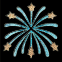 Picture of Fireworks - Sparkle Stencil (1pc)