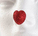 Picture of ProKNOWS Professional Clown Nose - Large Glitter Heart (T-5)