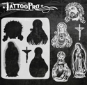 Picture of Tattoo Pro Stencil - Jesus & Mary (ATPS-155)