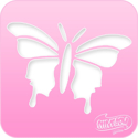 Picture of Pink Power Face Painting Stencil (1019) - Butterfly 2