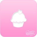 Picture of Pink Power Face Painting Stencil (1115)- Cupcake