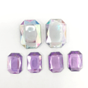 Picture of Jumbo Gems - Clear & Purple - from 1.25x1.72cm to 1.5x2.5cm (6 pcs.) (AG-M1)