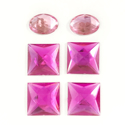 Picture of Jumbo Gems - Magenta & Pink - From 1.25x1.72cm to 2x2cm (6 pcs.) (AG-M3)