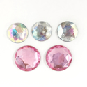 Picture of Jumbo Gems - Clear & Pink - 2-2.5cm (5 pcs.) (AG-M4)