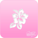 Picture of Pink Power Face Painting Stencil (1024) - Hibiscus