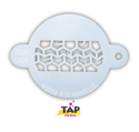 Picture of TAP 046 Face Painting Stencil - Tire Track
