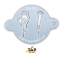 Picture of TAP 049 Face Painting Stencil - Graffiti Punctuation Marks