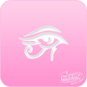 Picture of Pink Power Face Painting Stencil (1134) - Eye of Ra