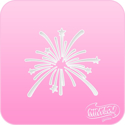 Picture of Pink Power Face Painting Stencil (1127) - Fireworks