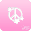 Picture of Pink Power Face Painting Stencil (1129) - Peace Flowers