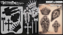 Picture of Tattoo Pro Stencil -  Knight & Crown (ATPS166)