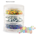 Picture of Craft & Bead Storage:2.75''x 1''- Screw-Stack Canisters - 3 Pieces PB812