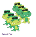 Picture of Krafty Kids Kit: DIY Foam Pal Kits Make 6 Crocodiles (CK174-D)