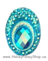 Picture of Big Peacock Gems - Blue - 13x18mm (20pk)