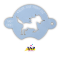 Picture of TAP 088 Face Painting Stencil - Prancing Unicorn