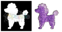 Picture of Poodle - Sparkle Stencil (1pc)