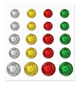 Picture of Peel-n-Stick Gems - Holiday Embellishment: 10/12/16mm Pyramid Gems x 20