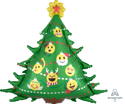 Picture of SuperShape Emoticon Christmas Tree Foil Balloon - 34'' (1pc)