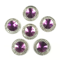 Picture of Double Round Gems - Purple - 16mm (6 pc.) (SG-DRP)