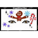Picture of Gingerbread Man Stencil Eyes - SOBA