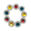 Picture of Double Round Gems - Festive Set - 12mm  (9 pc.) (AG-DRM2)