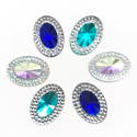 Picture of Double Oval Gems -  Frozen Set - 13x18mm (6 pcs) (AG-DO1)