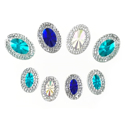 Picture of  Multi Double Oval Gems - Frozen Set - 9x14mm & 13x18mm (8 pcs) (AG-MDO1)