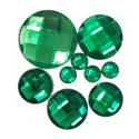 Picture of Round Gems - Green - 5 to 20mm (9 pc) (SG-RG)