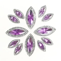 Picture of Double Pointed Eye Gems - Lilac - 6x14mm & 10x25mm (12 pc.) (AG-DPEL)