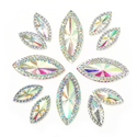 Picture of Double Pointed Eye Gems - Crystal - 6x14mm & 10x25mm (12 pc.) (AG-DPEC)