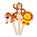 Picture of Krafty Kids Kit: DIY Foam Character Stick Puppets -  Jungle Pals (3pc)